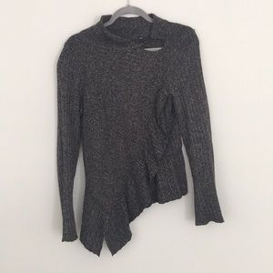 Anthropologie Knitted & Knotted Marled Sweater